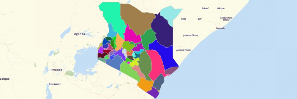 Map of Kenya Counties