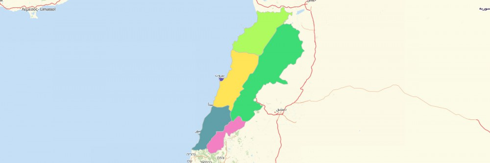 Map of Lebanon Governorates