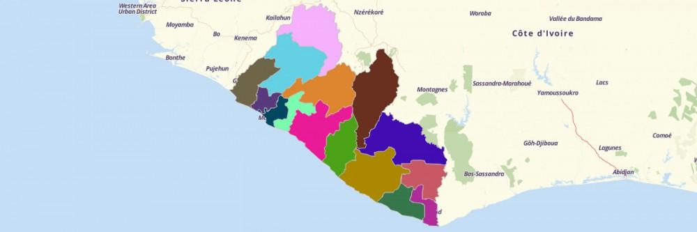 Map Of Liberia Counties Mapline - Liberia map