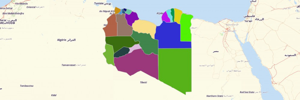 Map of Libya Districts