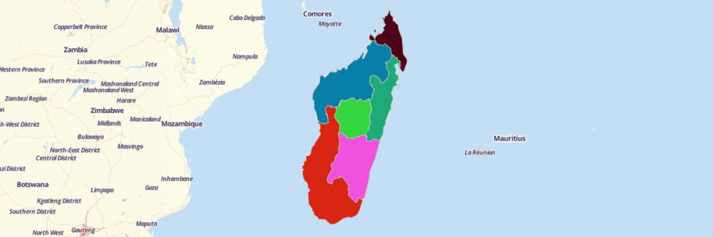 Map of Madagascar Provinces