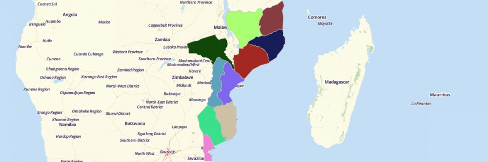 Map of Mozambique Provinces