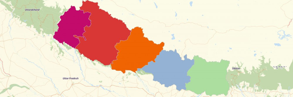 Map of Nepal Regions