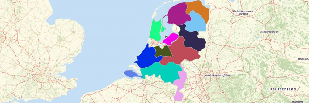 Map of Netherlands Provinces