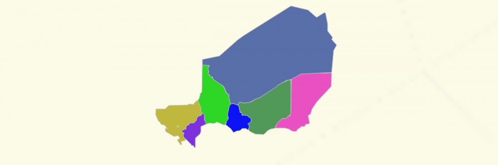 Map of Niger Regions