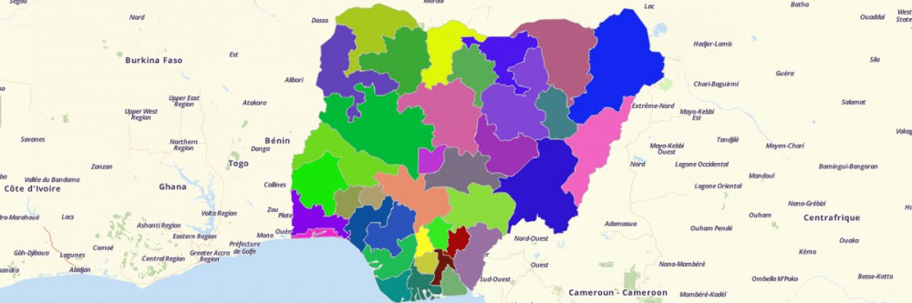 Map of Nigeria States