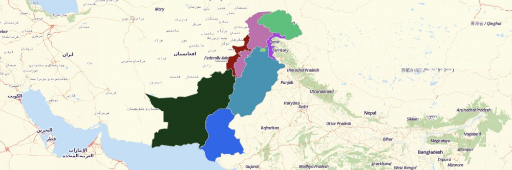 Map of Pakistan Provinces and Territories