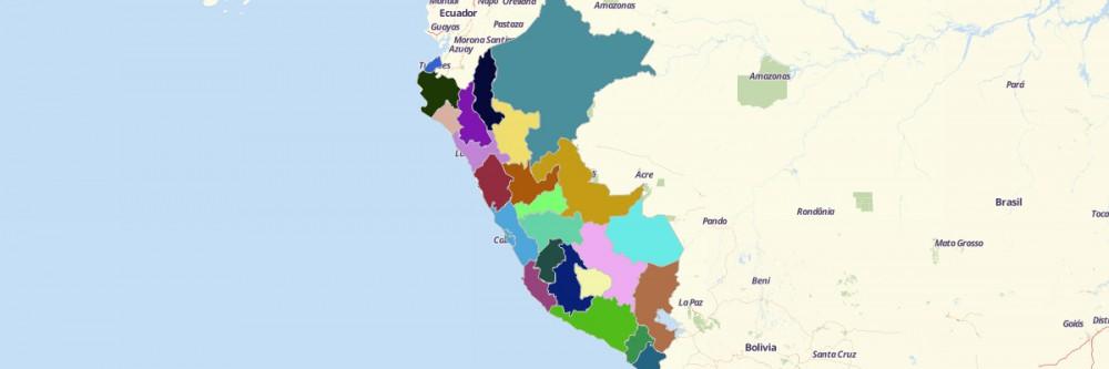 Map of Peru Regions