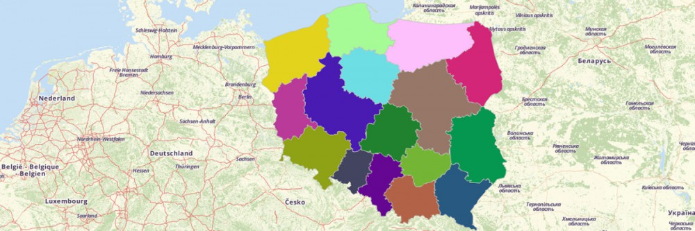 Map of Poland Provinces