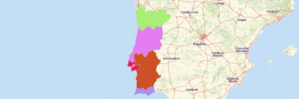 Map of Portugal Regions