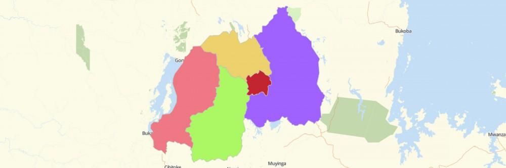 Map of Rwanda Provinces