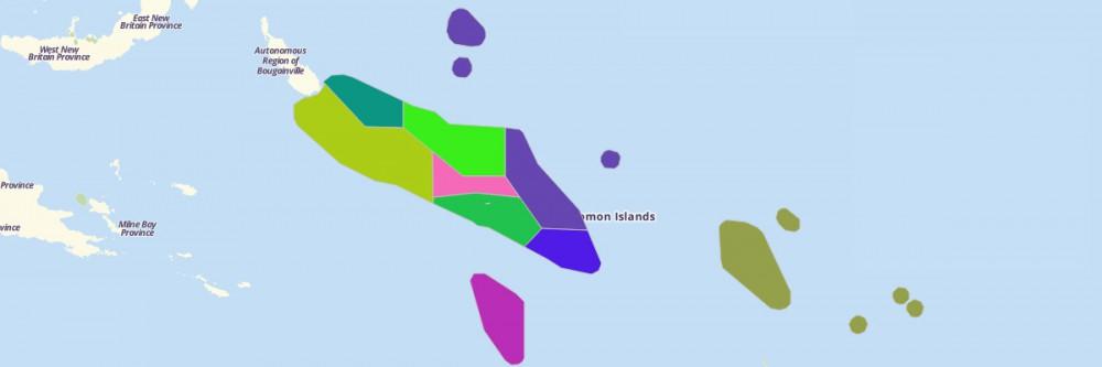 Of Solomon Islands Provinces - Solomon islands map