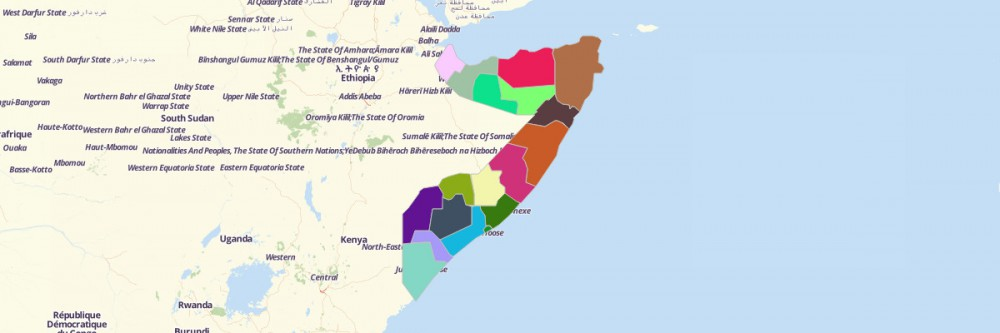 Map of Somalia Regions