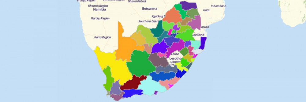 Map of South Africa Districts