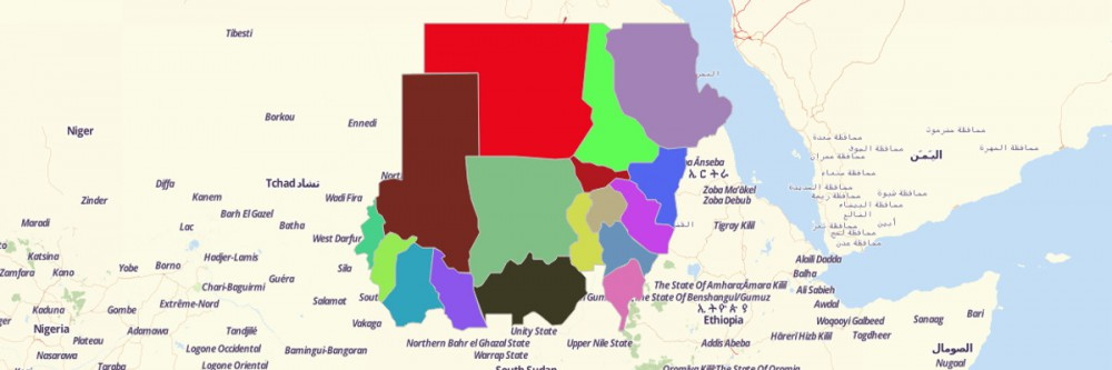 Map of Sudan States