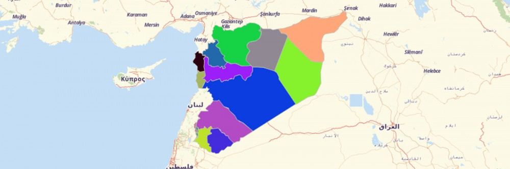 Map of Syria Governorates