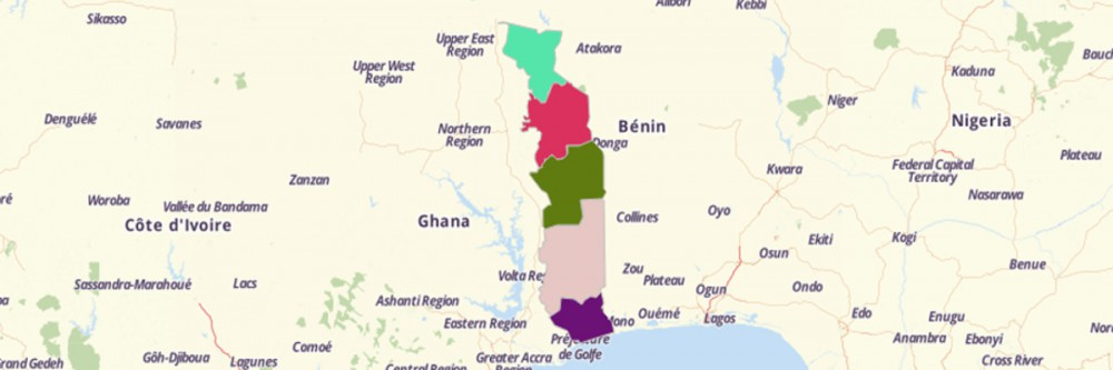 Map of Togo Regions