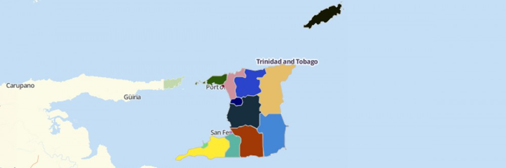 Map of Trinidad and Tobago Regional Corporations and Municipalities