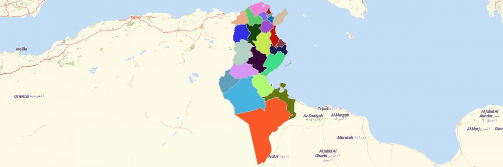Map of Tunisia Governorates