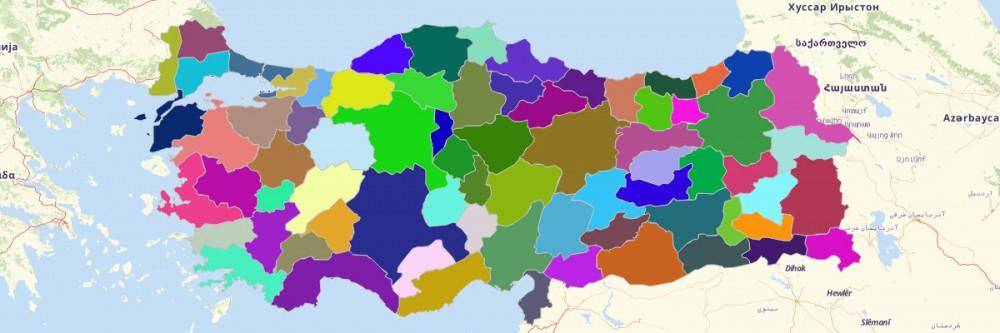 Map of Turkey Provinces