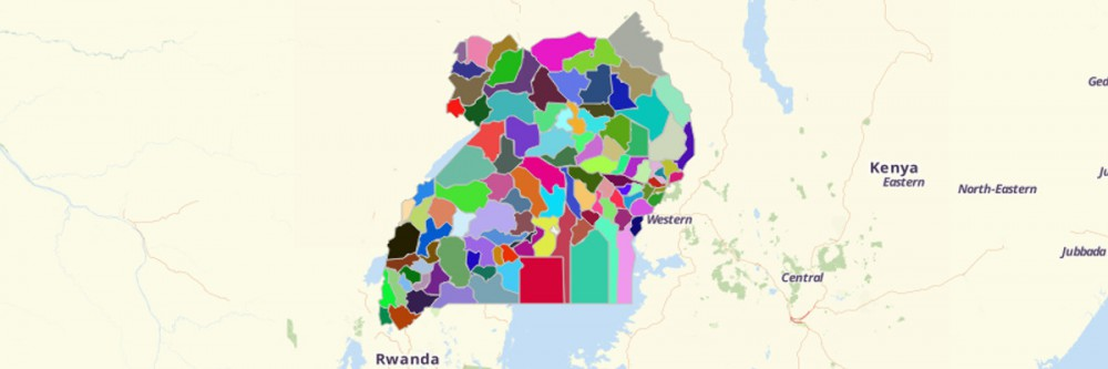 Map of Uganda Districts
