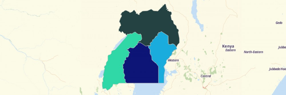 Map of Uganda Regions