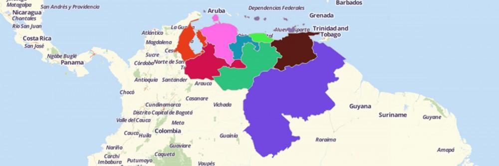 Map of Venezuela Regions