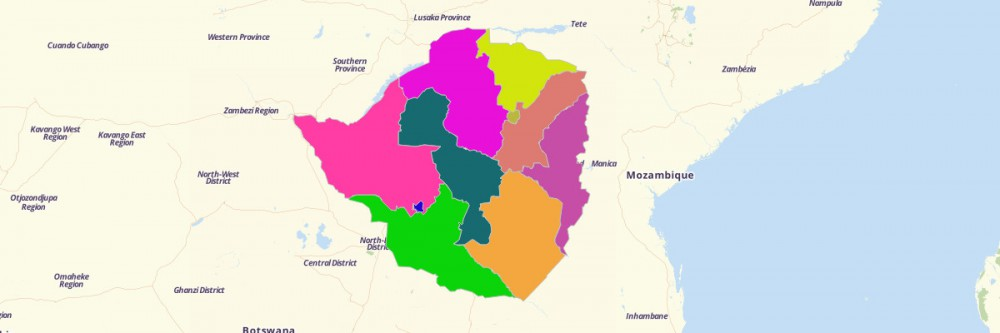 map of zimbabwe provinces