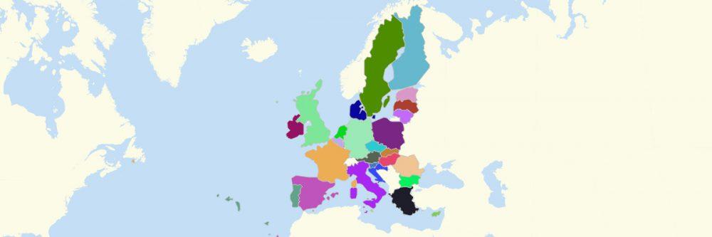 Member States of European Union Map