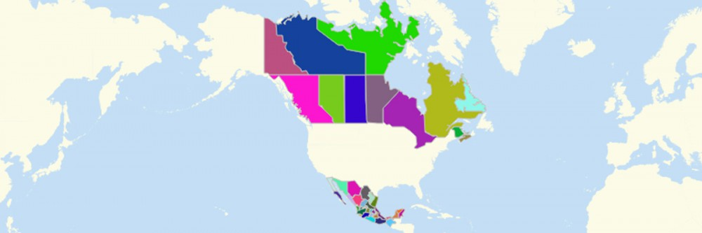 North America States Map