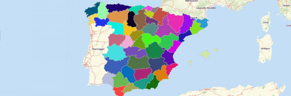 Provinces of Spain Map