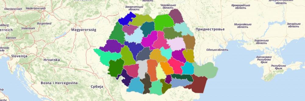 Romania County Map